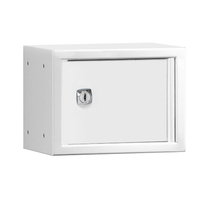 Uzamykatelný box na osobní věci Cube, 150x200x150 mm, bílá/bílé dveře
