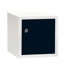 Uzamykatelný box na osobní věci Cube, 270x270x350 mm, bílá/černé dveře