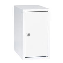 Uzamykatelný box na osobní věci Cube, 450x250x400 mm, bílá/bílé dveře