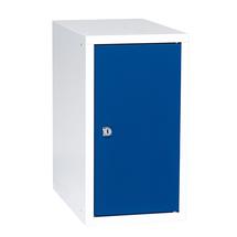 Uzamykatelný box na osobní věci Cube, 450x250x400 mm, bílá/modré dveře