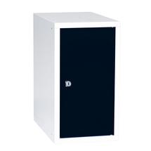 Uzamykatelný box na osobní věci Cube, 450x250x400 mm, bílá/černé dveře