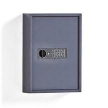 Skříňka na klíče, 100 háčků, šedá