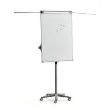 Mobilní flipchart, magnetická tabule, šedý