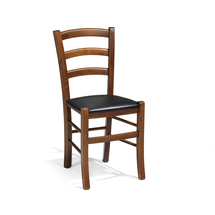 Dřevěná židle Tulsa, koženka