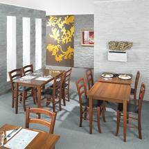 Stůl Sofie, 700x700 mm, ořech