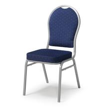 Banketová židle Seattle, modrá, hliníkově šedý rám