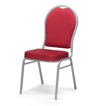 Banketová židle Seattle, červená, hliníkově šedý rám