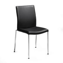 Konferenční židle Brooks, kůže, černá, chrom