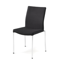 Konferenční židle Brooks, textilní potah, černá, chrom