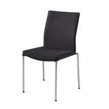 Konferenční židle Brooks, textilní potah, černá, hliníkově šedá