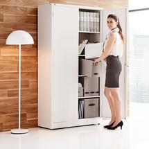 Kancelářská skříň Style, 1900x1000x400 mm, bílá