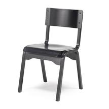 Dřevěná židle Charlotte, černá