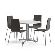 Sestava Sanna + Melville, 1 stůl a 4 tmavě šedé židle