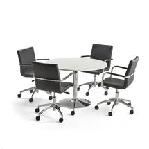 Sestava Lily + Delta, 1 stůl a 4 černé židle