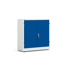 Kovová skříň Style, 1000x1000x400 mm, bílá, modré dveře