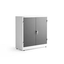 Kovová skříň Style, 1000x1000x400 mm, bílá, tmavě šedé dveře