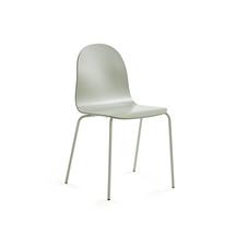 Židle Gander, lakovaná skořepina, zelenošedá