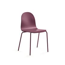 Židle Gander, lakovaná skořepina, podzimní červeň
