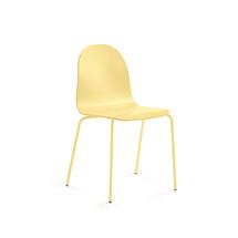Židle Gander, lakovaná skořepina, hořčicová