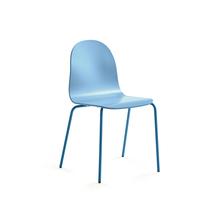Židle Gander, lakovaná skořepina, modrá
