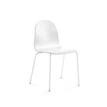 Židle Gander, lakovaná skořepina, bílá