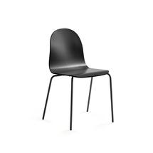 Židle Gander, lakovaná skořepina, černá