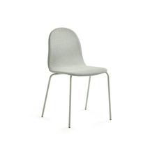 Židle Gander, polstrovaná, zelenošedá