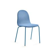 Židle Gander, polstrovaná, modrá
