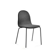Židle Gander, polstrovaná, šedá