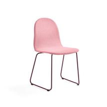 Židle Gander, ližinová podnož, polstrovaná, podzimní červeň