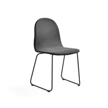Židle Gander, ližinová podnož, polstrovaná, šedá