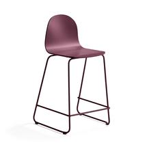 Barová židle Gander, výška sedáku 630 mm, lakovaná skořepina, podzimní červeň
