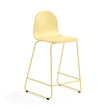 Barová židle Gander, výška sedáku 630 mm, lakovaná skořepina, hořčicová