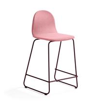 Barová židle Gander, výška sedáku 630 mm, polstrovaná, podzimní červeň