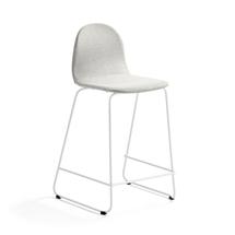 Barová židle Gander, výška sedáku 630 mm, polstrovaná, béžová