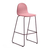 Barová židle Gander, výška sedáku 790 mm, polstrovaná, podzimní červeň