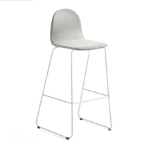 Barová židle Gander, výška sedáku 790 mm, polstrovaná, béžová
