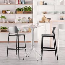 Sestava Various + Rio, 1 stůl a 2 antracitové barové židle