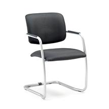 Konferenční židle Simcoe, pružný rám, černá/hliníkově šedá