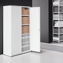 Kovová skříň Spirit, 1900x1020x500 mm, bílá