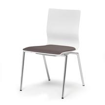 Konferenční židle Whistler, bez područek, šedá/bílá