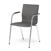 Konferenční židle Whistler, s područkami, tmavě šedá