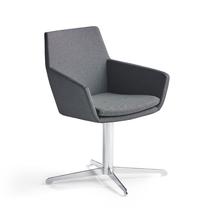 Konferenční židle Fairview, chrom, antracitová