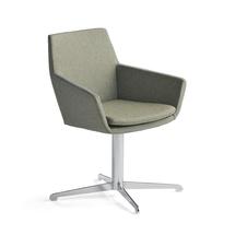 Konferenční židle Fairview, chrom, zelenomodrá