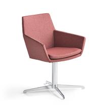 Konferenční židle Fairview, chrom, švestková