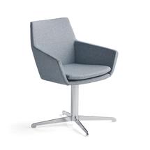 Konferenční židle Fairview, chrom, modrošedá