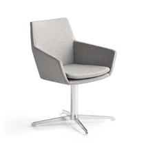 Konferenční židle Fairview, chrom, stříbrnošedá
