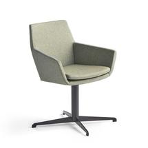 Konferenční židle Fairview, černá, zelenomodrá