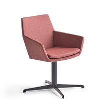 Konferenční židle Fairview, černá, švestková