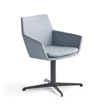 Konferenční židle Fairview, černá, modrošedá